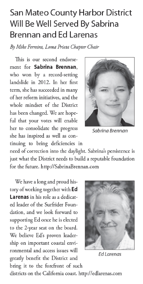 Sabrina Brennan Ed Larenas Sierra Club Endorsements