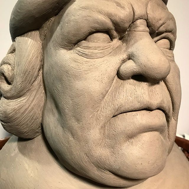 Finally finished this gal. Had a student think it was Christopher Columbus 😅 . . . . #goonies #specialeffects #ceramics #sculpture #instagood #finish #clay #artistsoninstagram #art #portrait #daily #wednesday #closeup