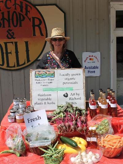 When she's not busy teaching seed saving techniques and tending to the gardens, Storring can be found selling the fruits of her labours at various venues around NorthHastings, such as York River Meats in Bancroft.