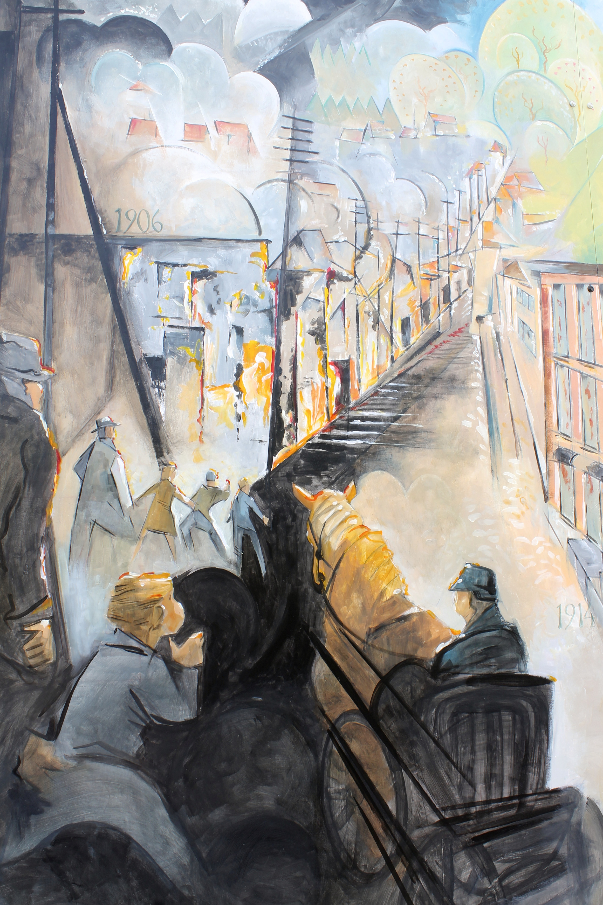 The Quiet Painter, by Michelle Annette Tremblay, Photo of Arne Roosman's mural by Michelle Annette Tremblay