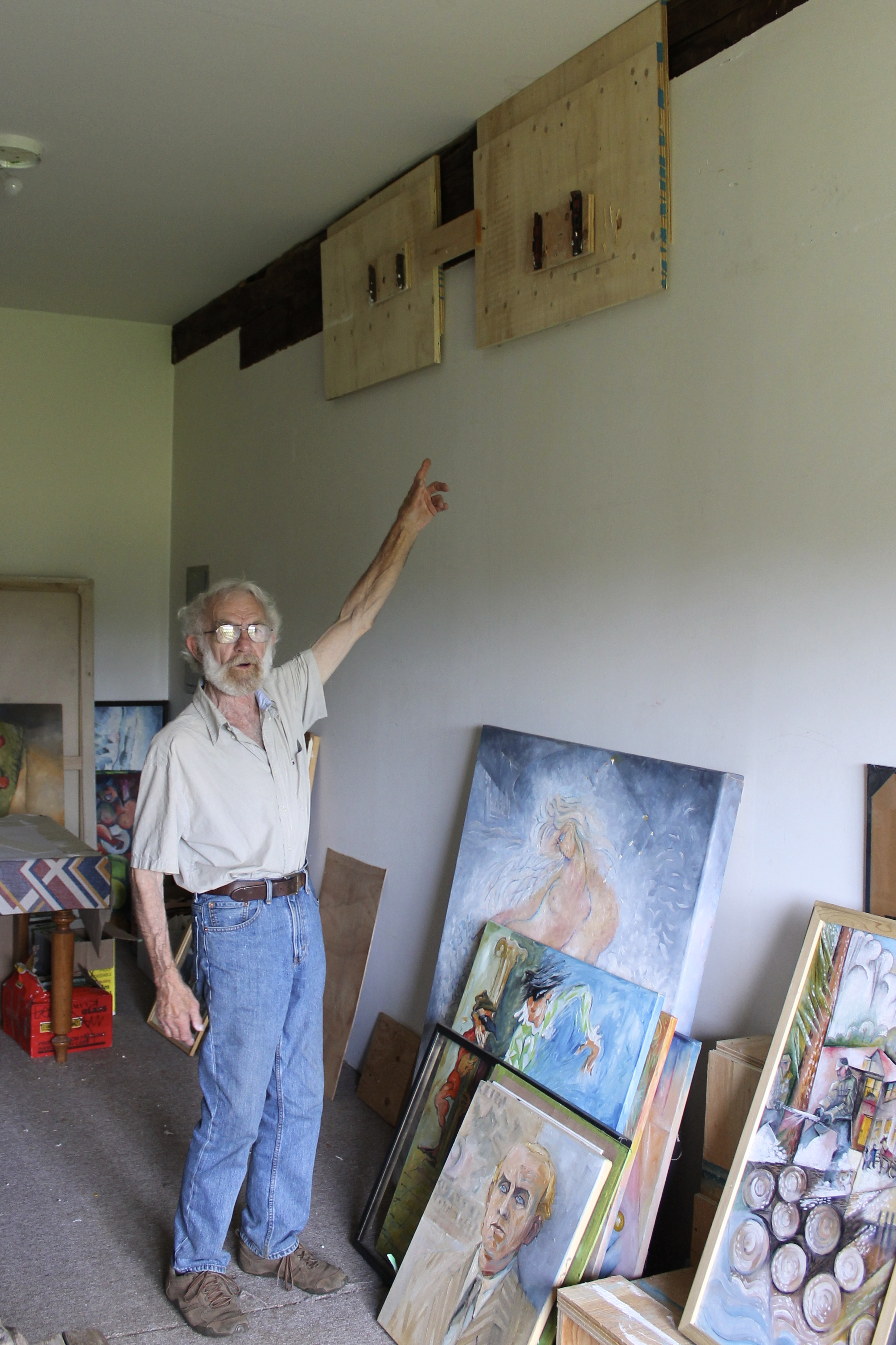 The Quiet Painter, by Michelle Annette Tremblay, Photo of Arne Roosman by Michelle Annette Tremblay