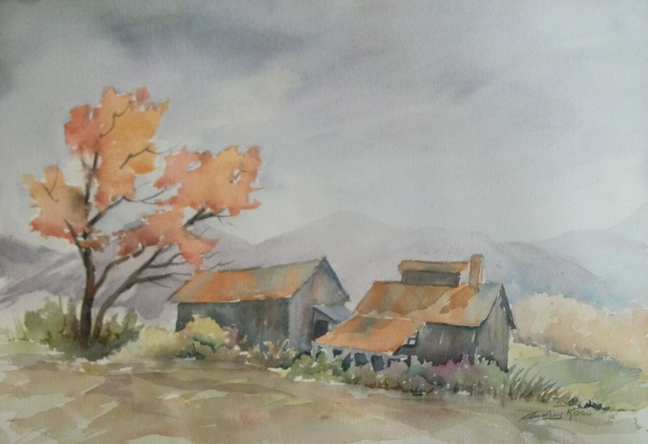 Watercolour by Audrey Ross, Tweed Studio Tour