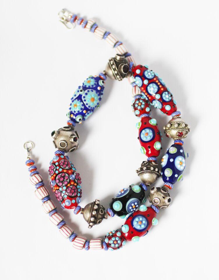 Fire worked glass beads by Lucie Kovarova-Weir, Tweed Studio Tour