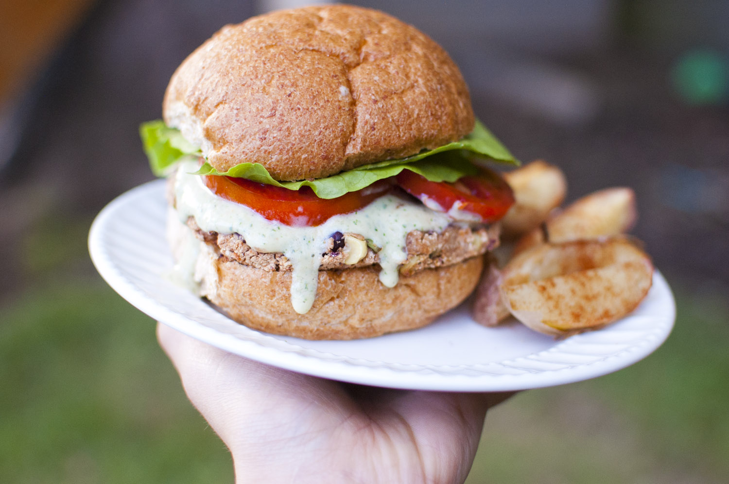 Tamale Burger with Jalapeno Ranch