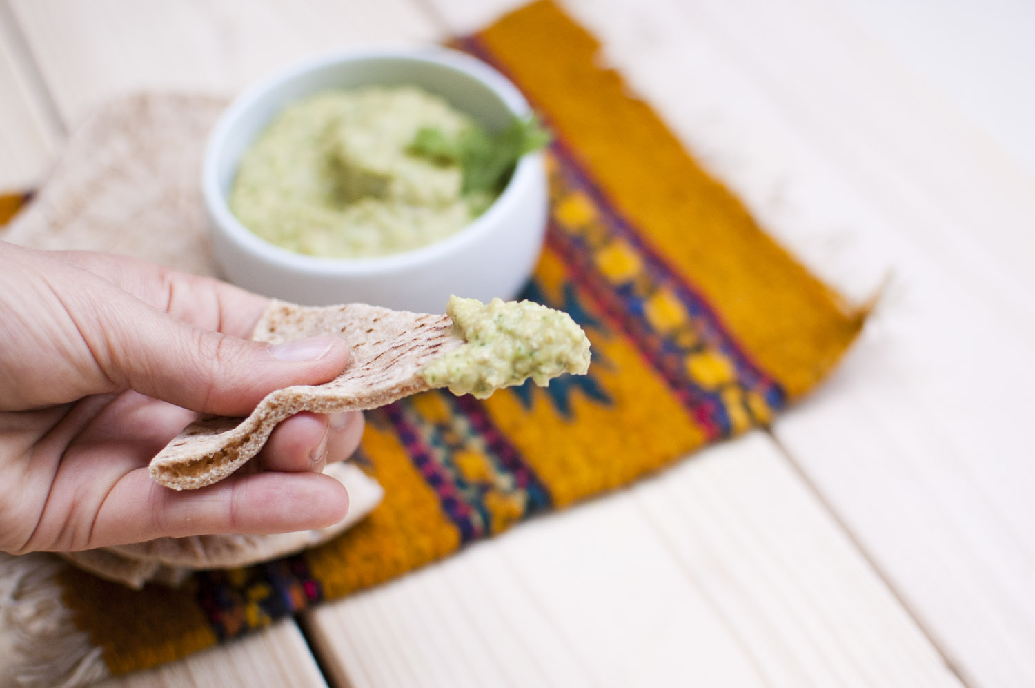 Roasted Tomatillo Hummus