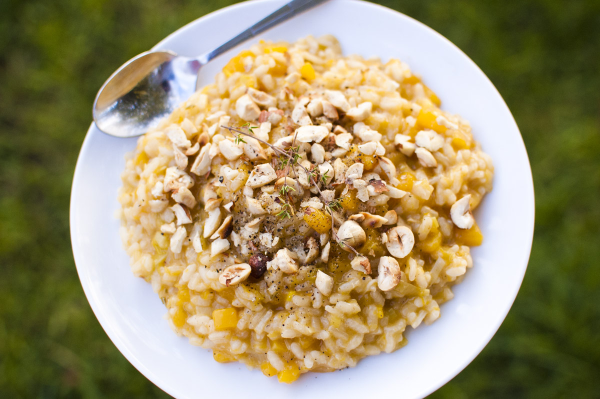 Vegan Butternut, Leek and Toasted Hazelnut Risotto from Fo' Reals Life
