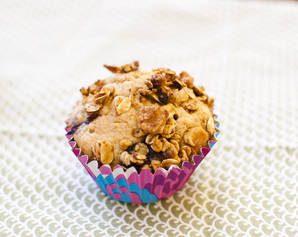 Vegan Plant Strong Blueberry Crumble Muffins