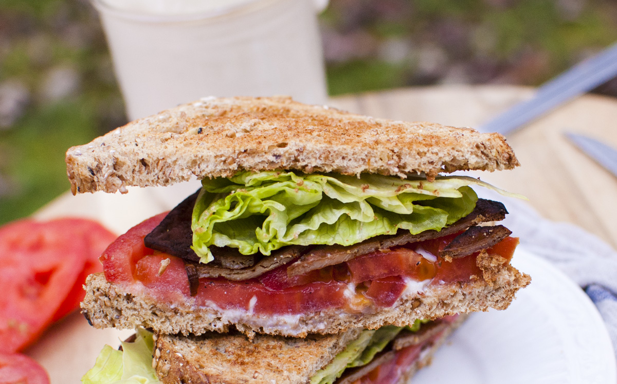 Easy Tofu Bacon and an Amazing Vegan BLT - Fo Reals Life