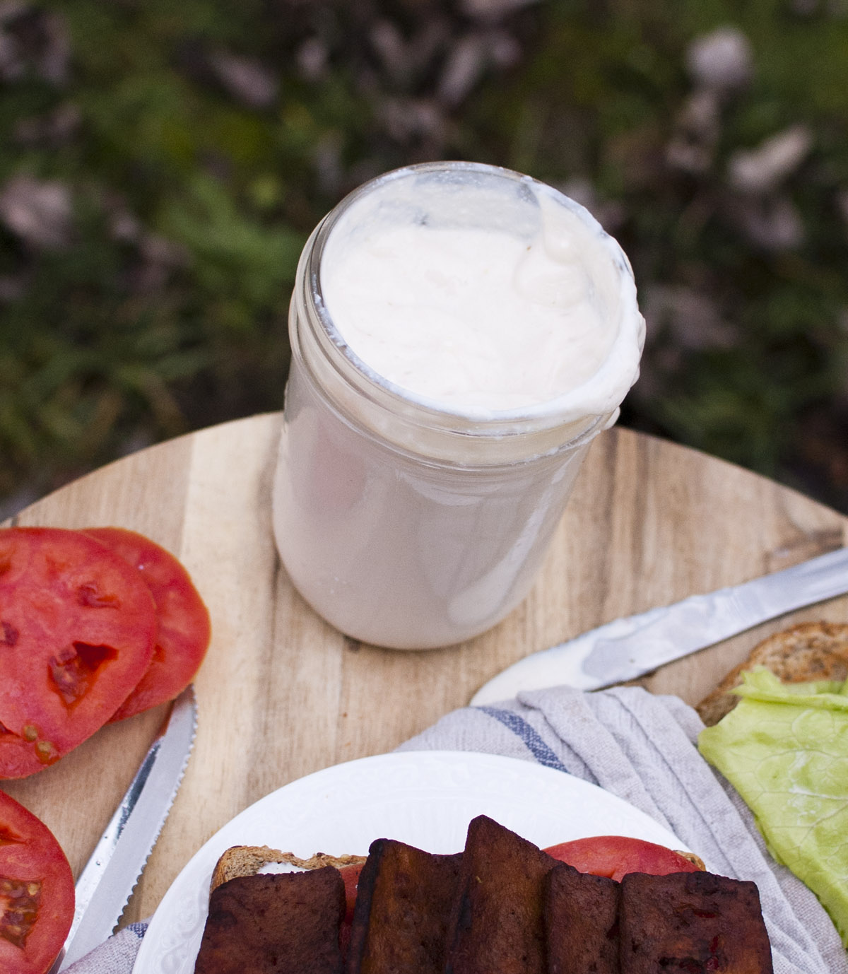 Plant Strong Tofu Mayo (vegan and oil free!)