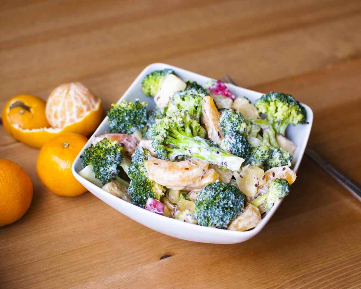 Healthy Vegan Asian Broccoli Salad from Fo Reals Life