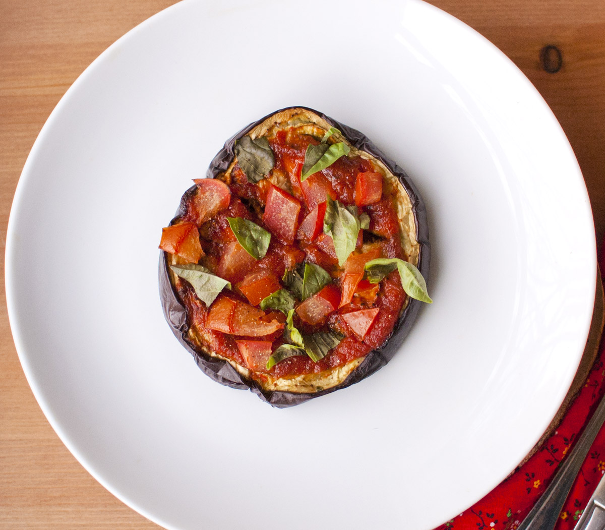 Simply Healthy Eggplant Pizza