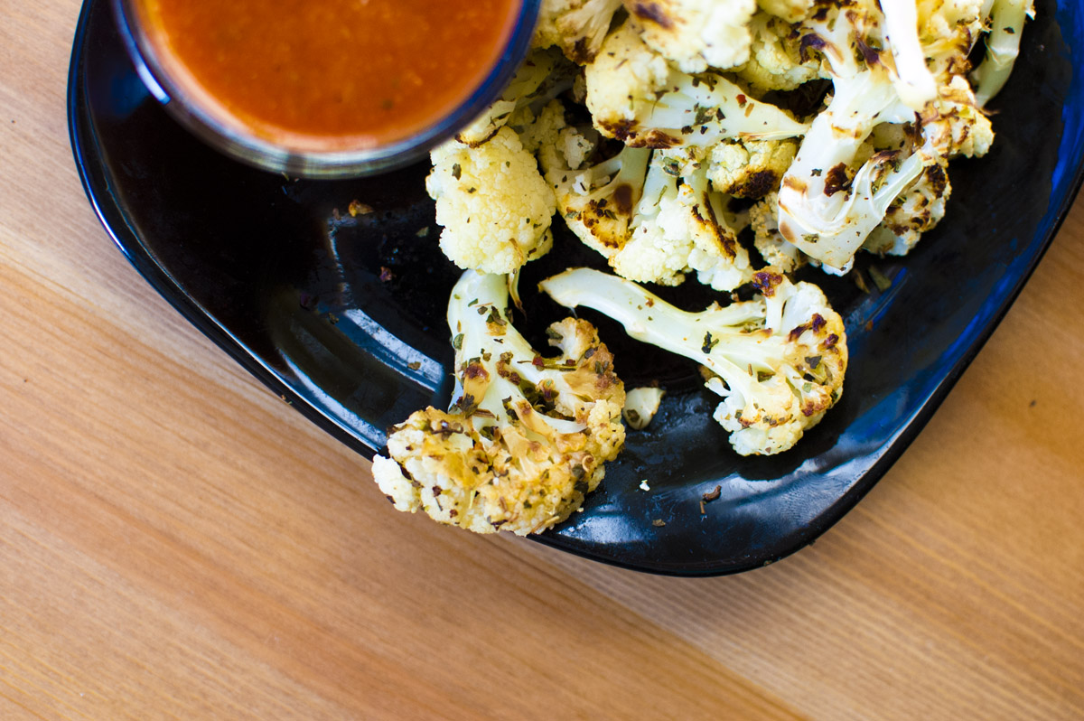 Pizza Flavored Roasted Cauliflower - Simply Healthy