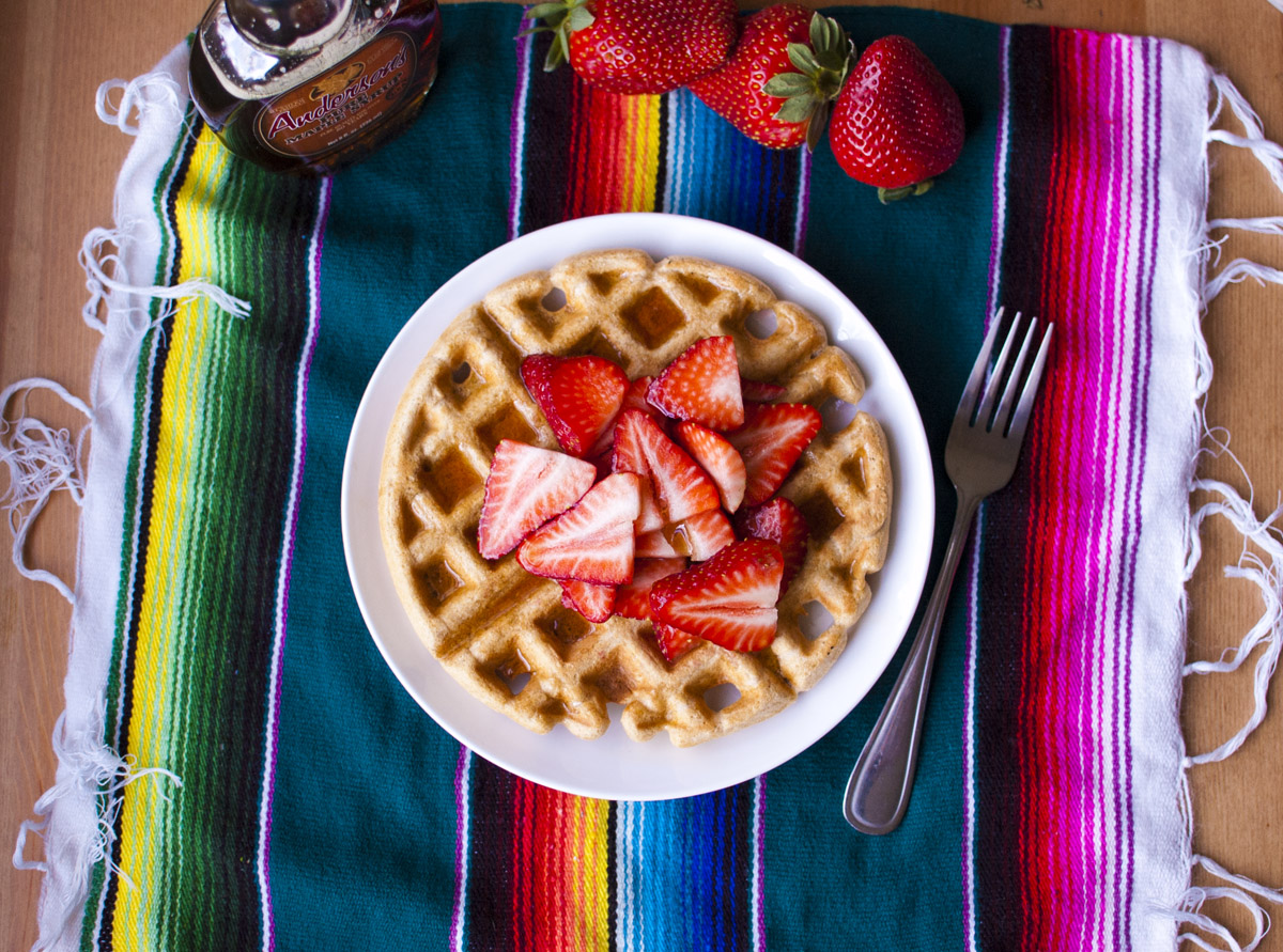 Plant Strong (vegan) Whole Wheat Waffles