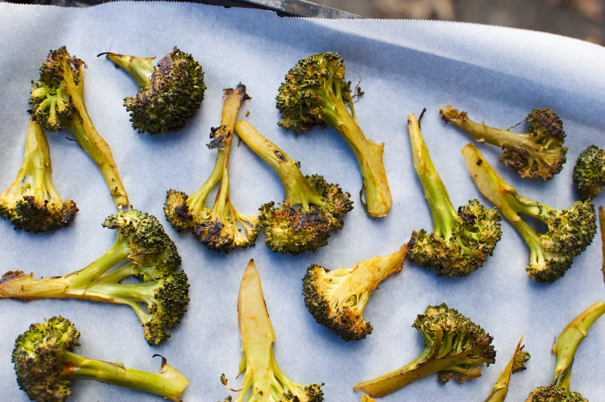 Plant Strong Sriracha Roasted Broccoli