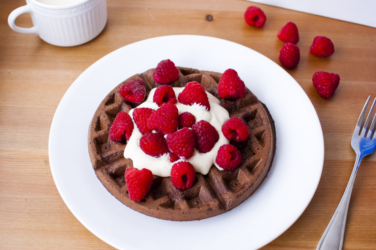 Vegan Chocolate Whole Wheat Waffles! (Plant Strong!)