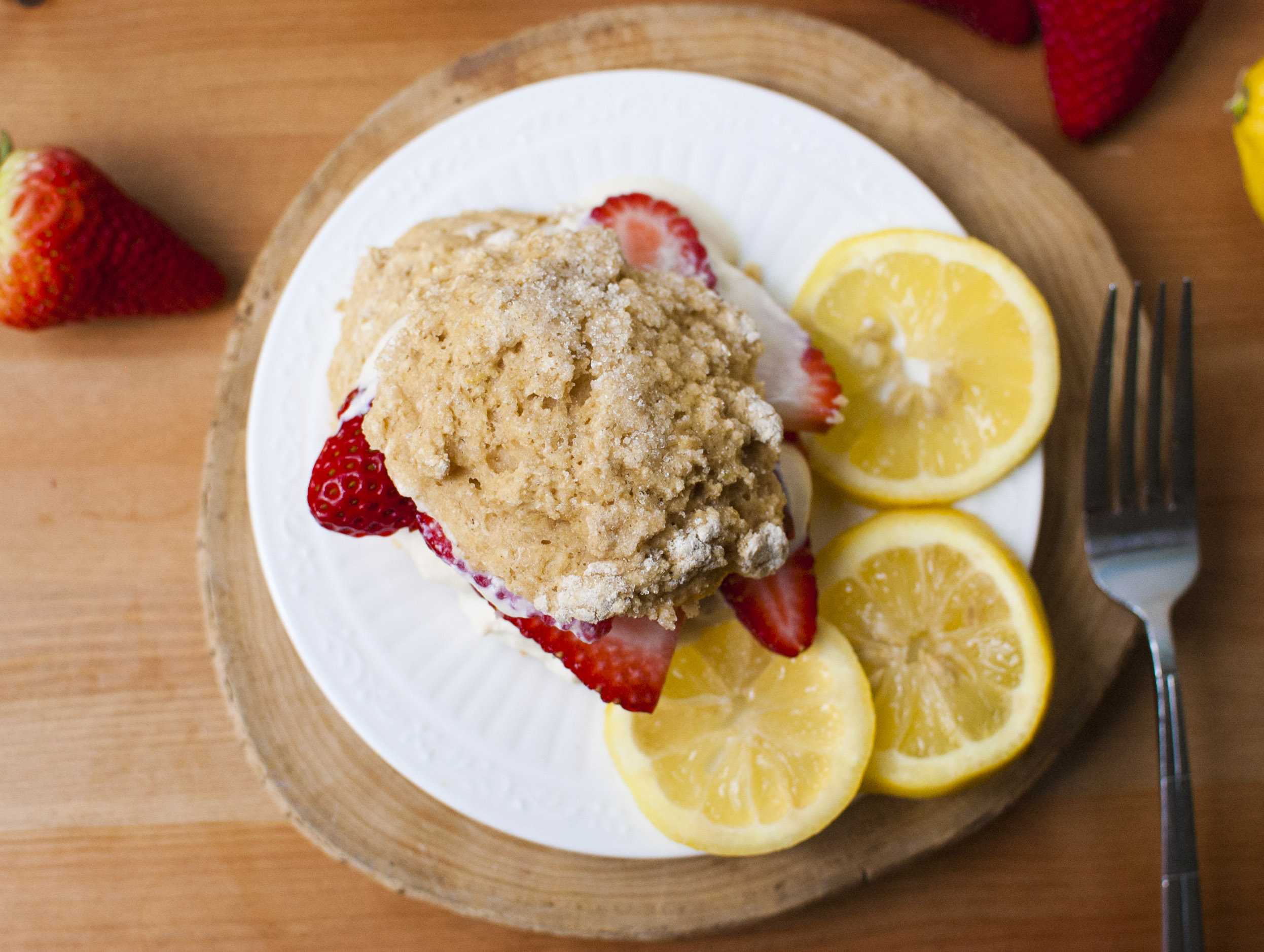 Strawberry Lemon Shortcakes (vegan)