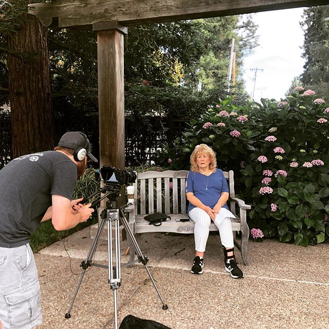 Filming for @campbellmuseums today with Joanna Herz, longtime Campbell resident. Fascinating interview of how Silicon Valley has changed since she was a youth picking apricots. #bayareavideographer #campbell #siliconvalley #localhistory #localhistorymatters #localhistorymuseum #storiesmatter