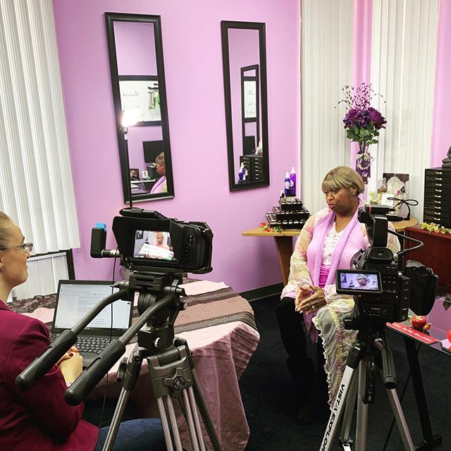 Woman supporting woman! Shooting with @unified_stories covering Gloria's story of inclusion and diversity as an administrator in the tech industry #videography #videographer #bayareavideographer #womanintech