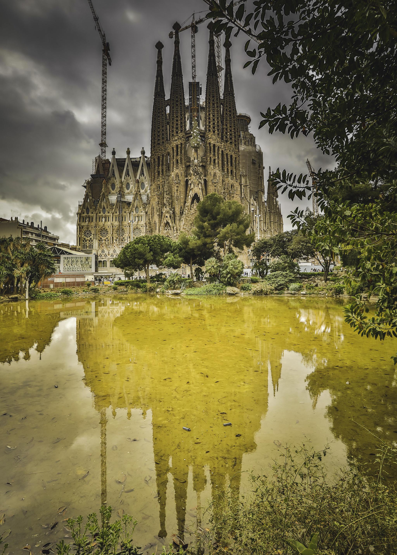 La Sagrada Familia - the famous Gaudi designed church in Barcelona