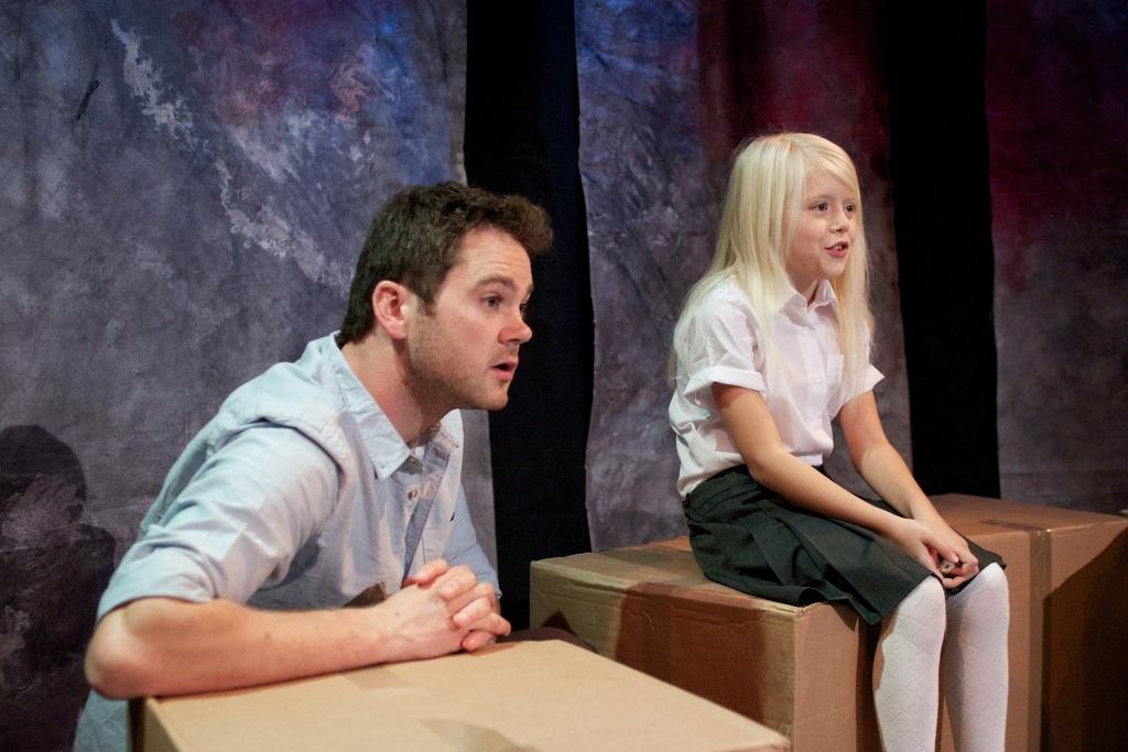 Actors: Simon Bubb & Abigail Cole Jarvie Photograph:  stageshotslondon@gmail.com