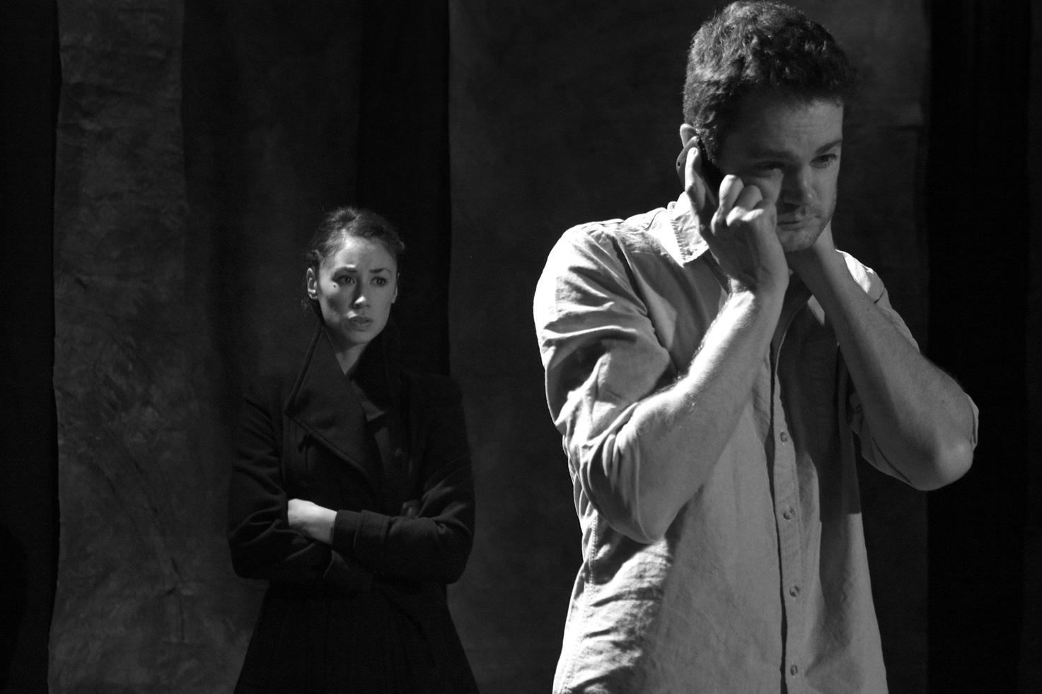 Actors: Siubhan Harrison & Simon Bubb Photograph:  stageshotslondon@gmail.com