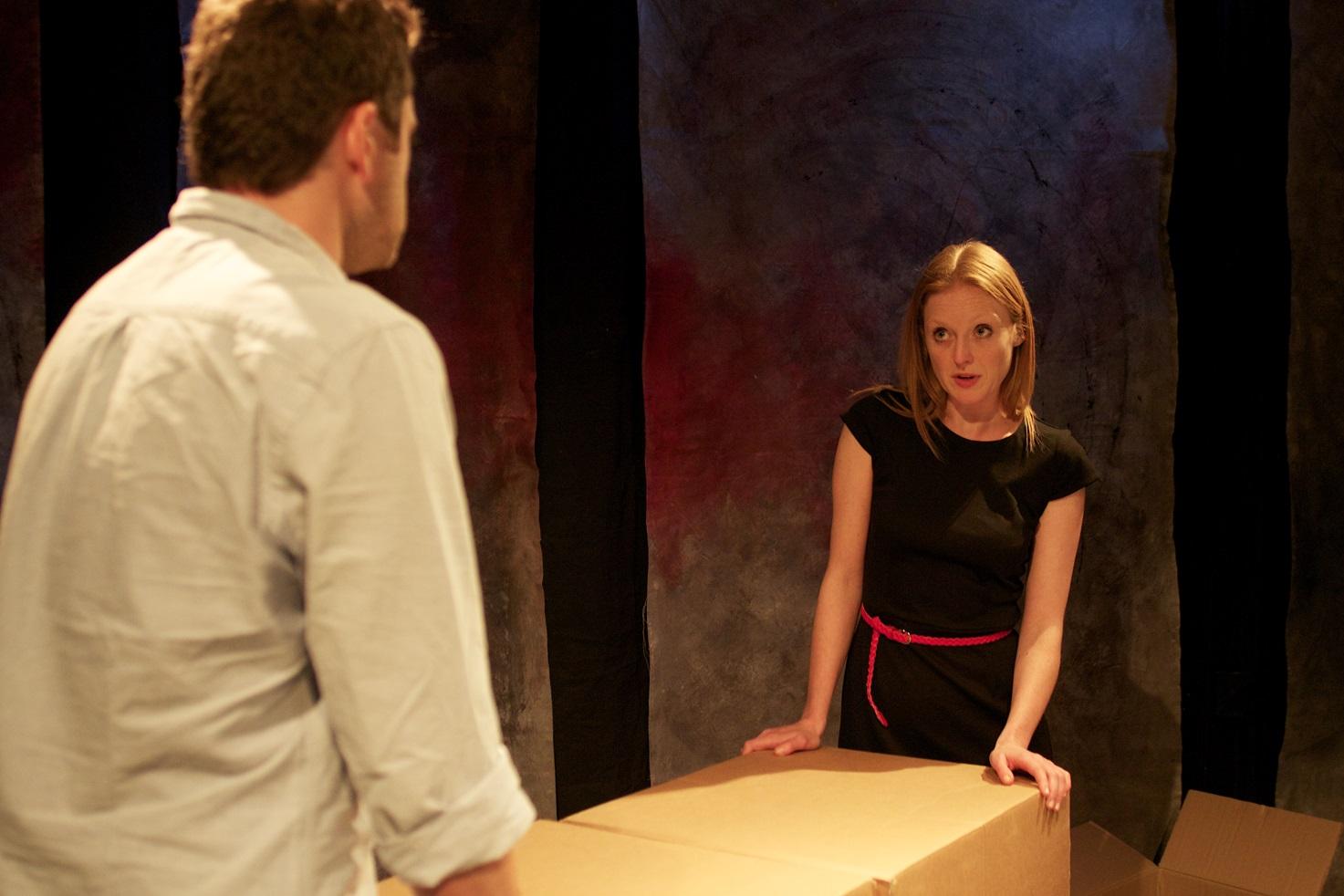 Actors: Simon Bubb & Tilly Gaunt Photograph:  stageshotslondon@gmail.com