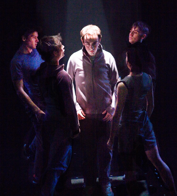 Actors: Declan Harvey, Ben Duke, Eddie Kay, Imogen Knight & Iain McKee Photograph: Alessandro Evangelista