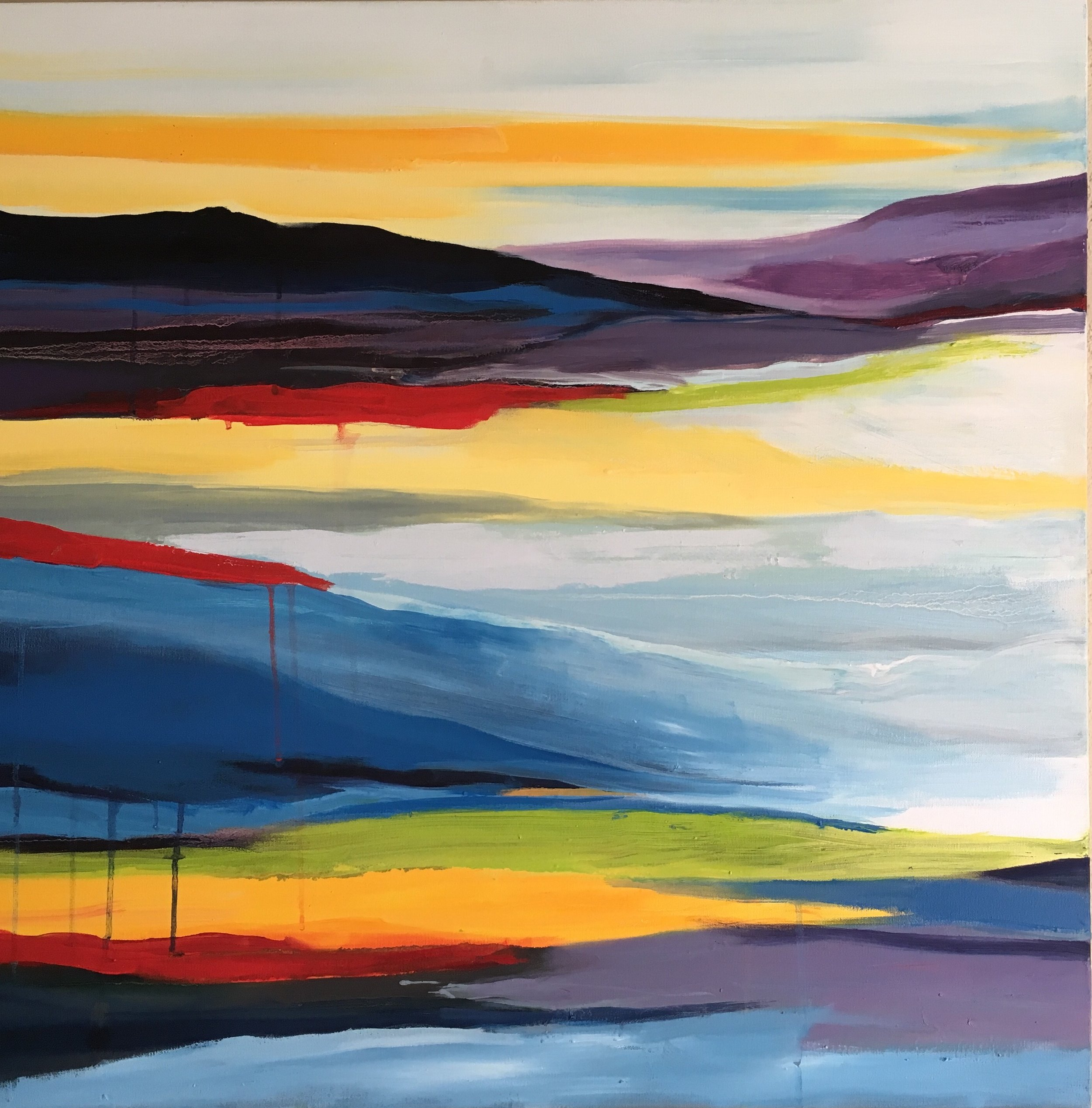""" Land Escape""  30"" x 30"" oil on canvas $400"