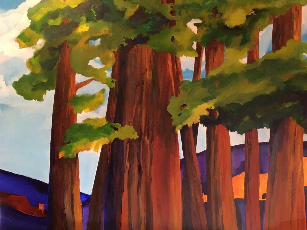""" California Halleluia"" 36"" x 48"" acrylic on canvas (sold)"