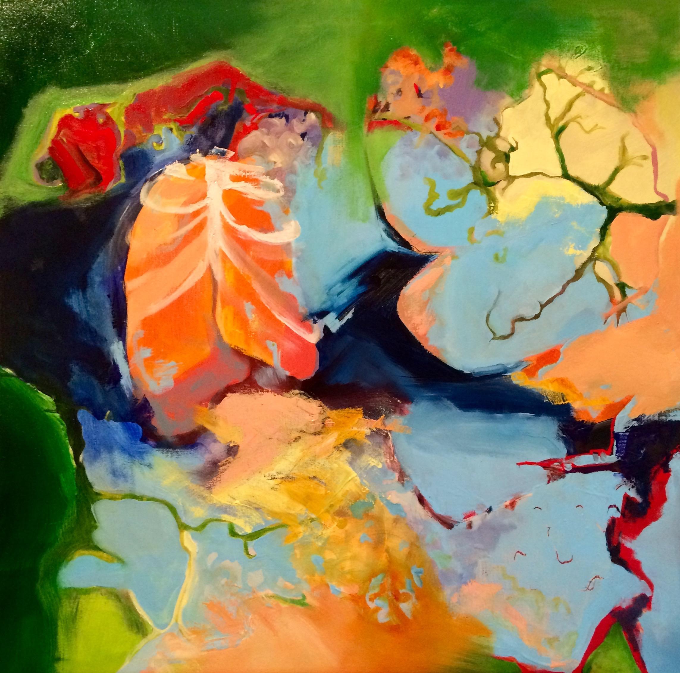 """"""" Good Air"""" oil on canvas 30"""" x 30"""" $400"""