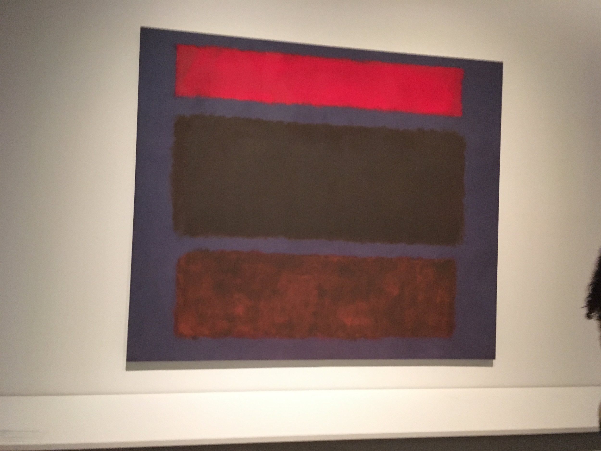 """No 16 Mark Rothko 1960 102"""" x 119 1/2"""" oil on canvas"""