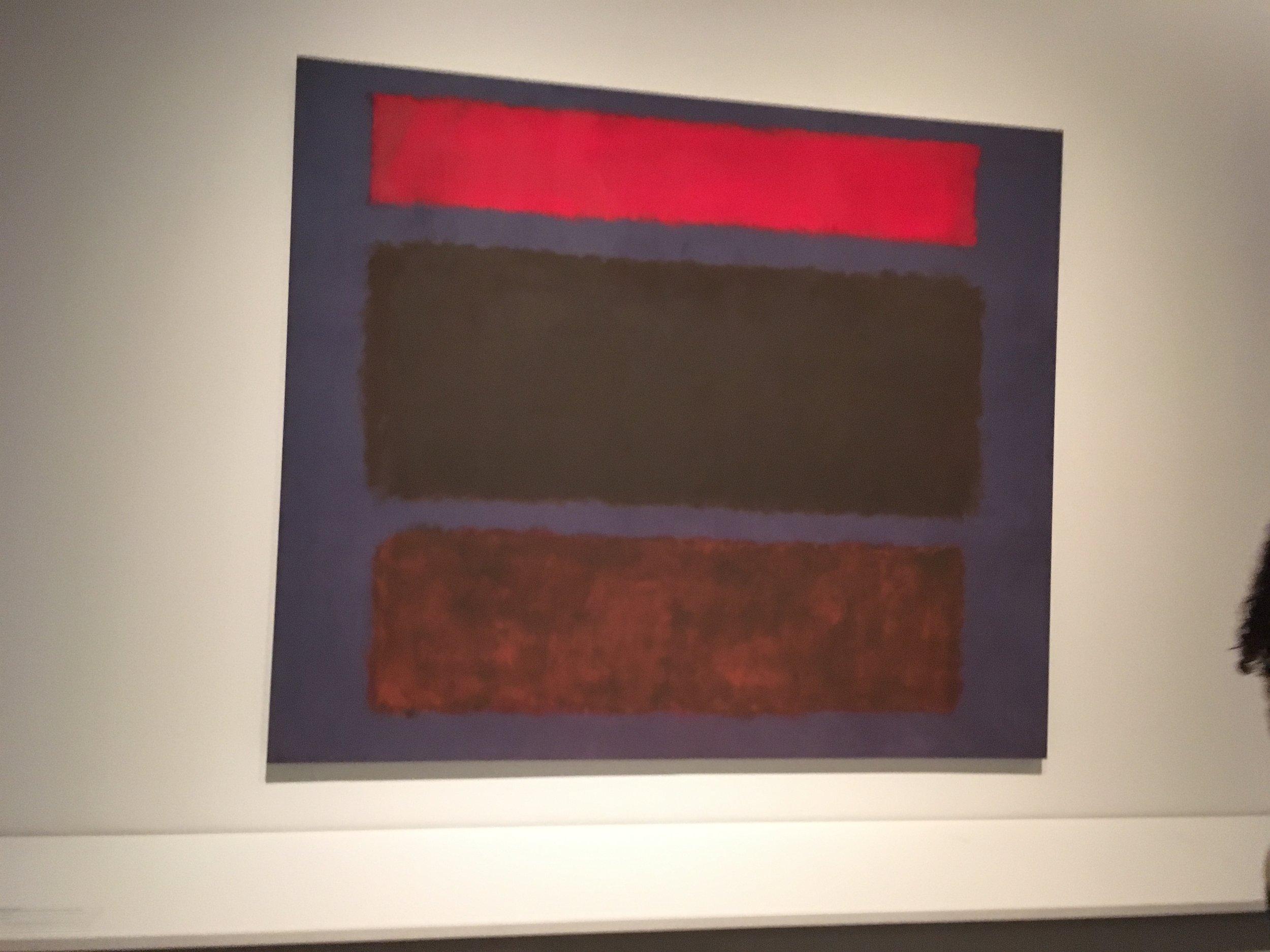 """No 16 Mark Rothko 120"""" x 119 1/2 """" oil on canvas 1960"""