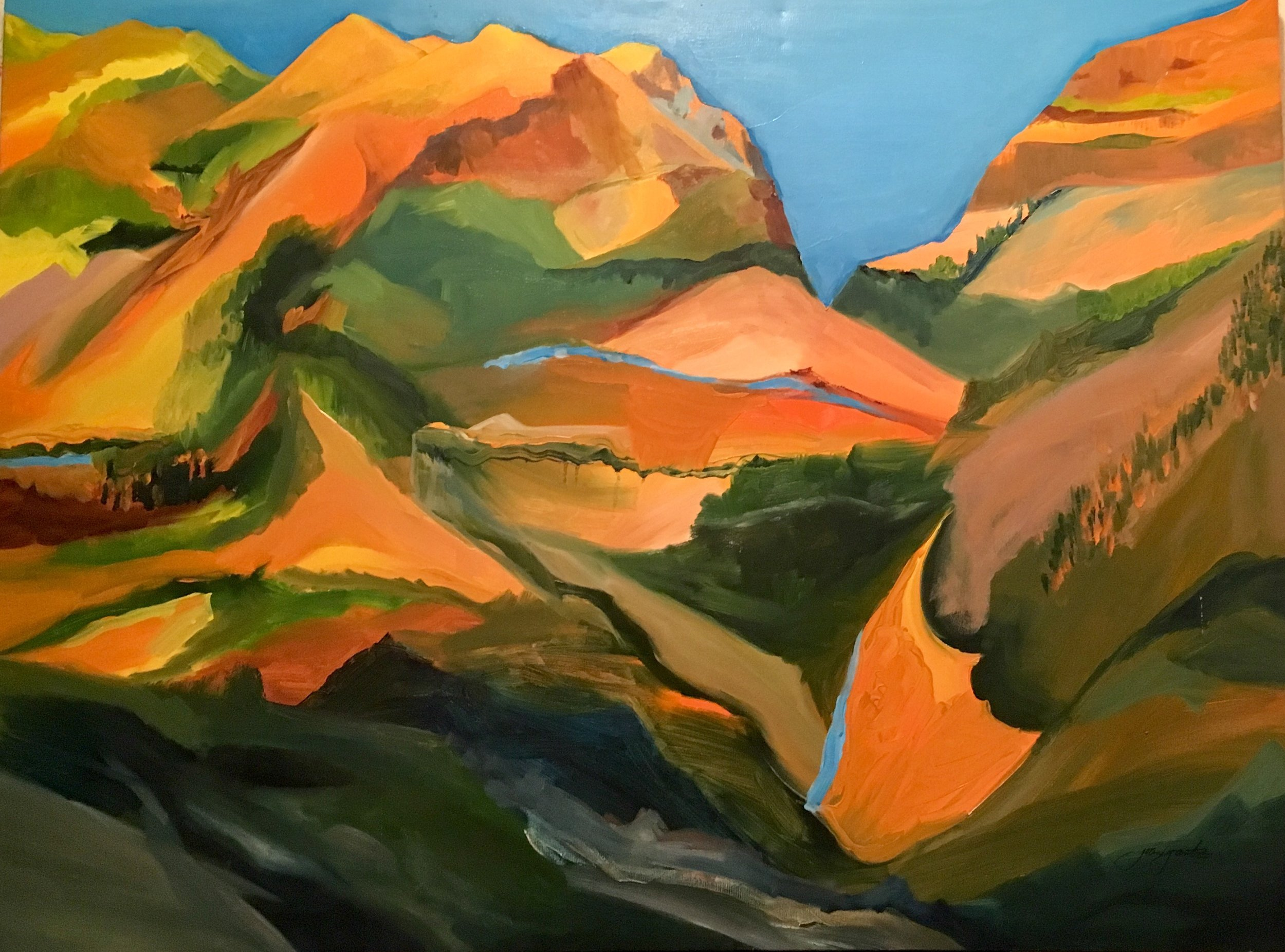 """ San Jose Range"" oil on canvas 36"" x 48"" Oil on gallery wrapped canvas $800"