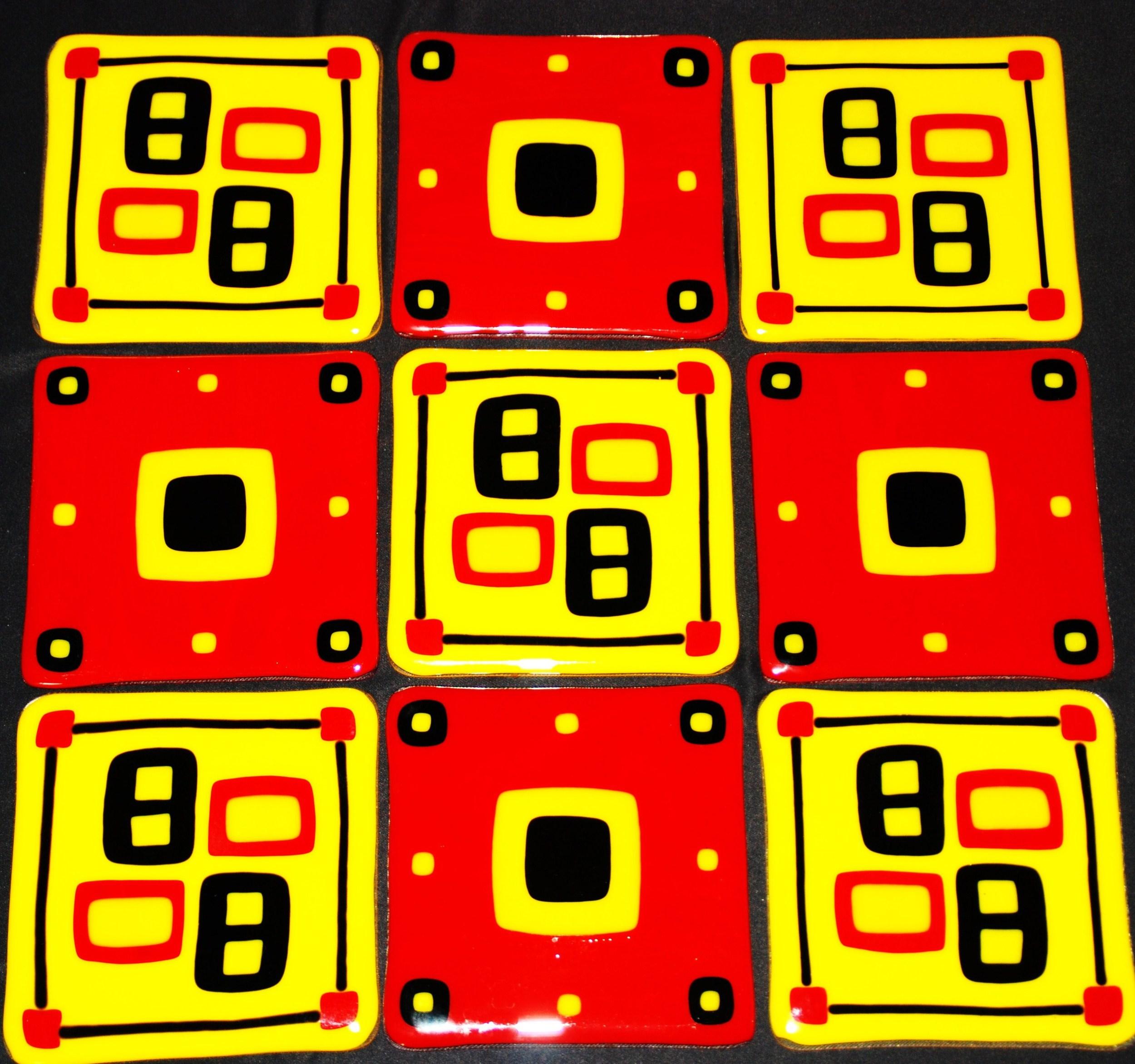 craftsman red and gold tiles for kitchen backsplash.JPG