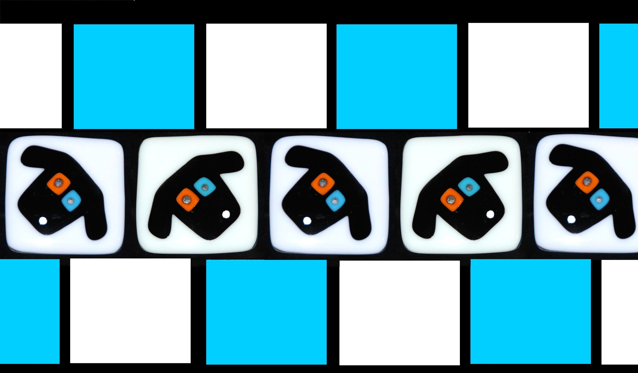 row of black dog faces on white with blue.jpg