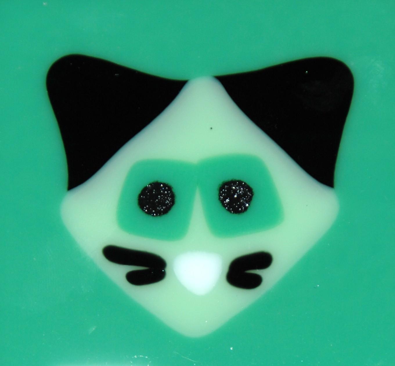 green cat on green tile.JPG