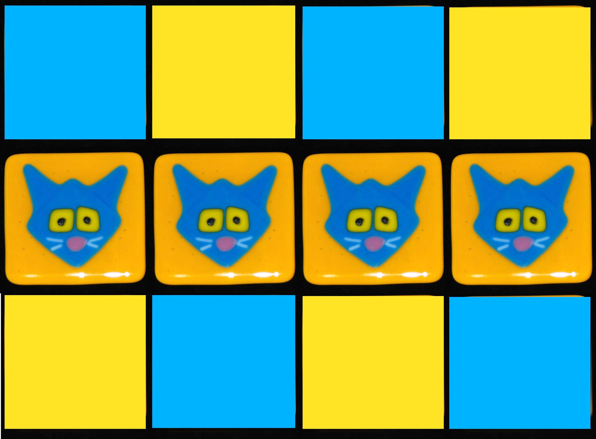 kitties blue on gold with blue and bold.jpg