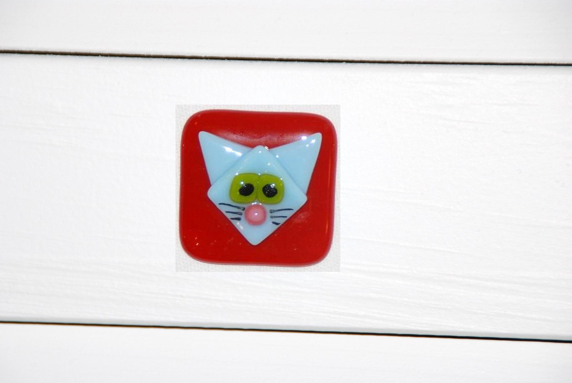 blue cat on red cabinet pull.JPG