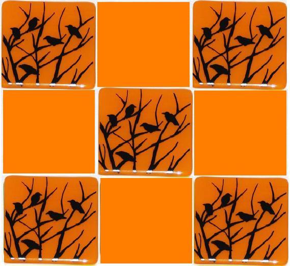 murder of crows on orange tiles with orange.jpg