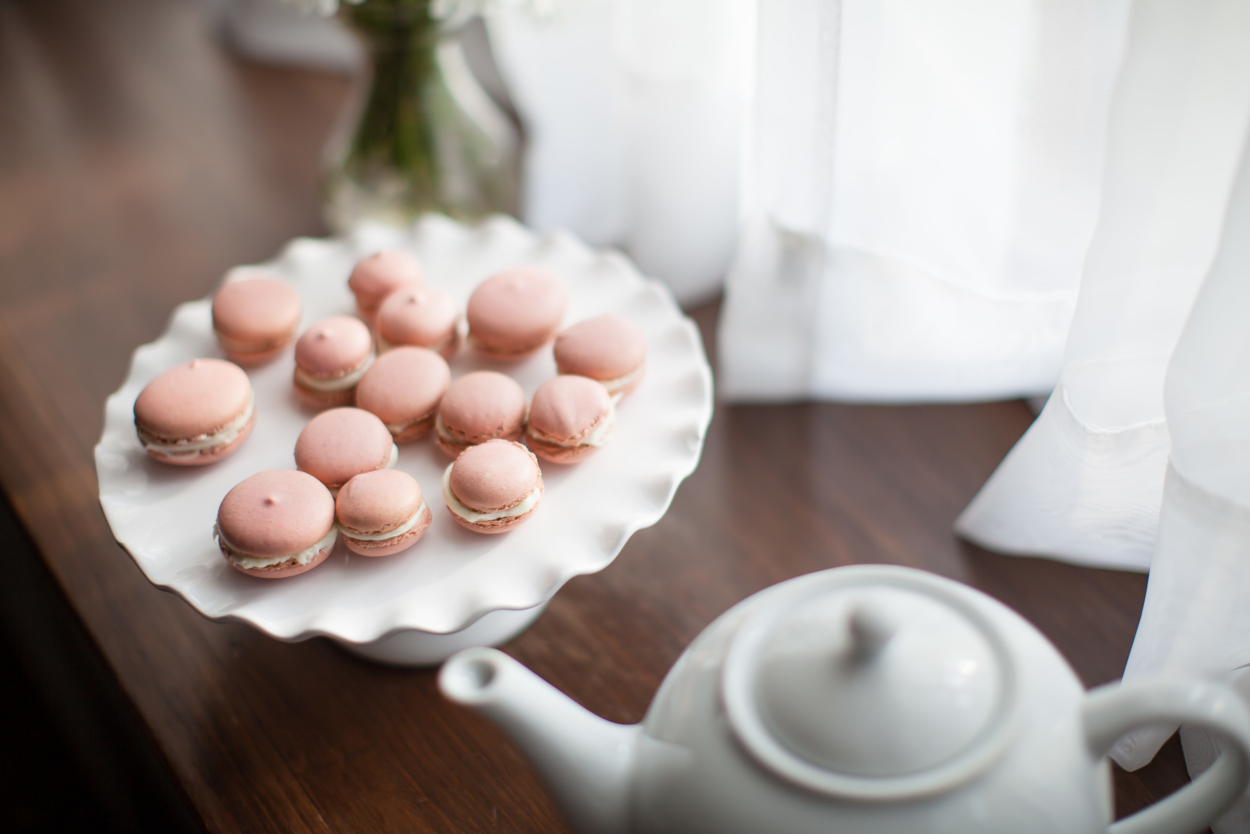 Homemade french macaroons.