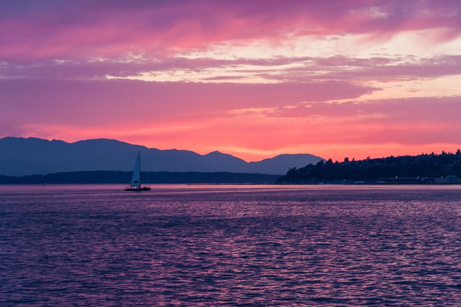 Sunset, Puget Sound