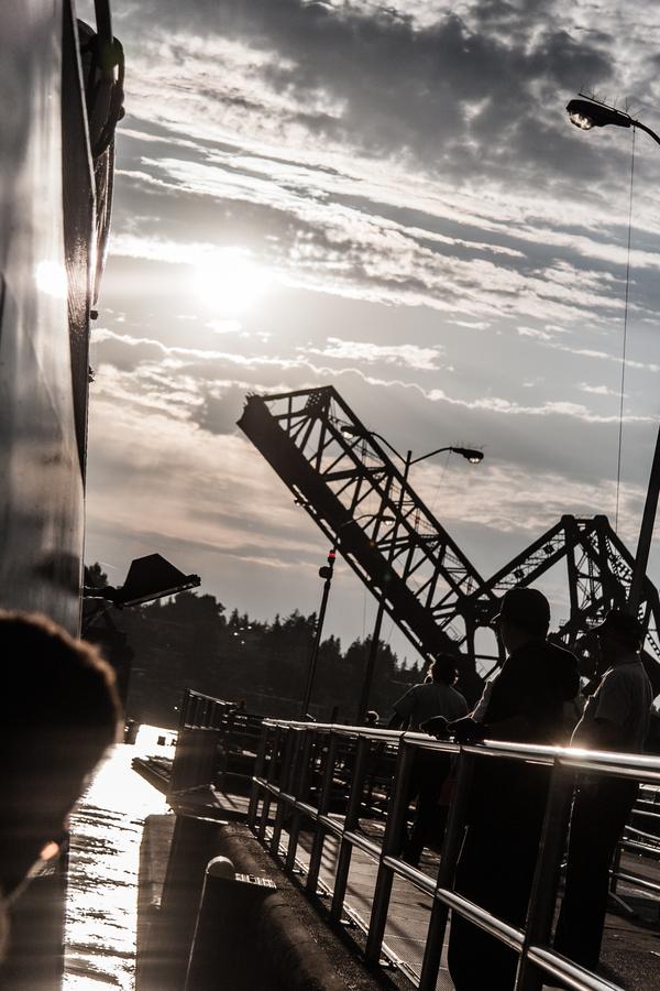 Railroad Bridge - Sunset