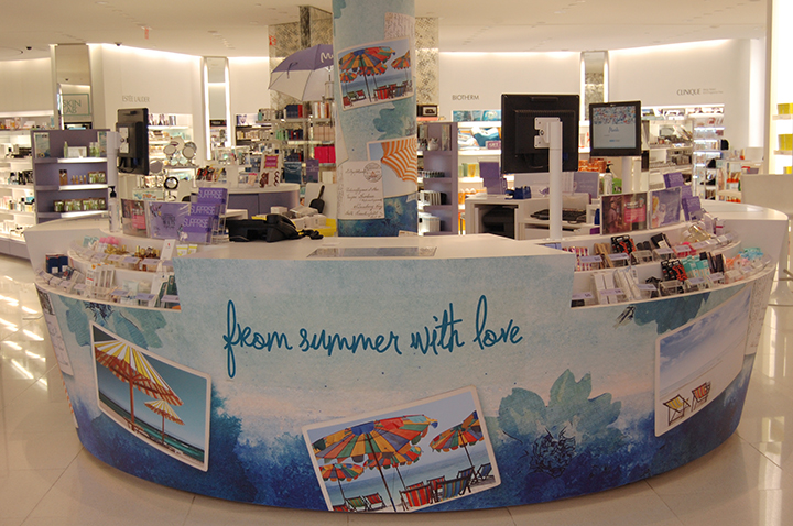 Murale Summer Cash Desk Wrap