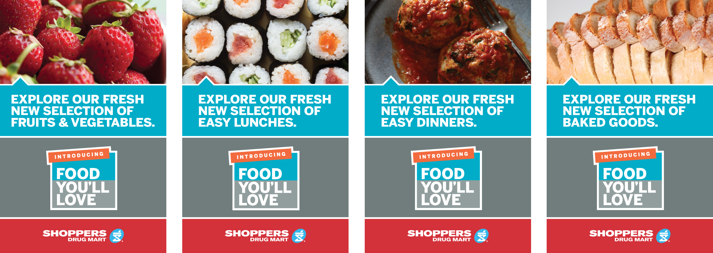 Shoppers Drug Mart Loblaws Food Launch  Window Posters 40 x 61