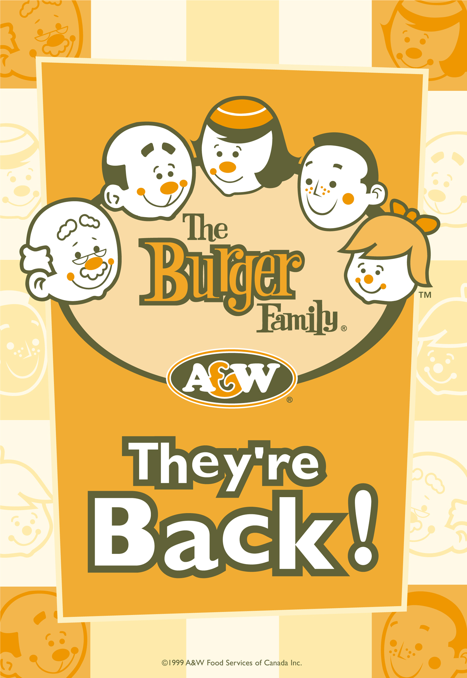 A&W Burger Family Relaunch Window Poster 52 x 73