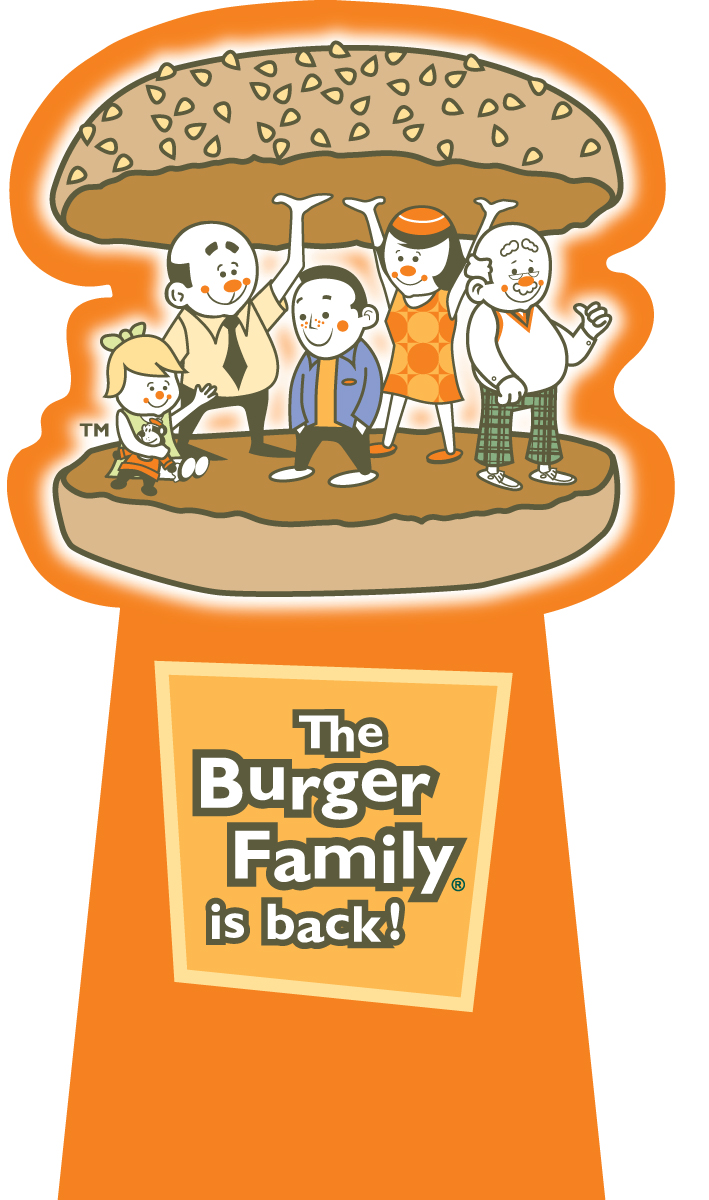 A&W Burger Family Relaunch 5ft Die Cut Cash Stand