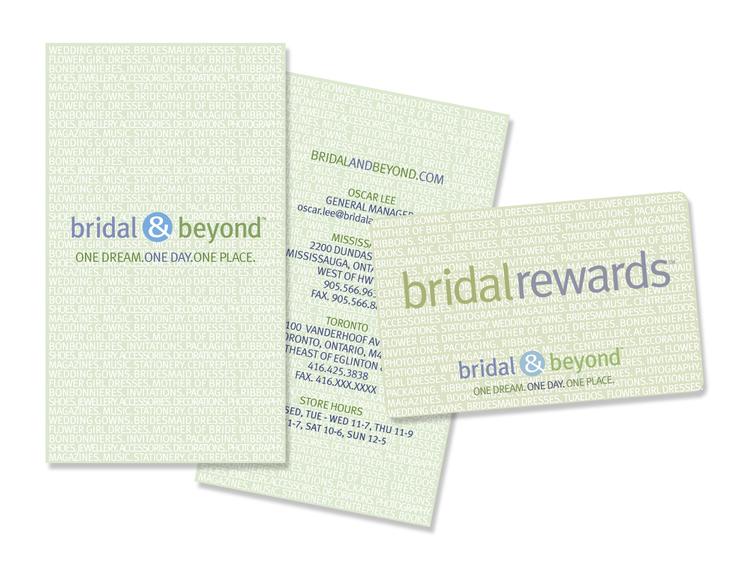 Bridal & Beyond Logo, Identity, Buiness Card & Loyalty Card