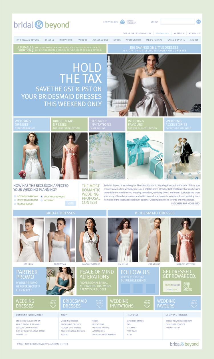 Bridal & Beyond Web SiteRefresh