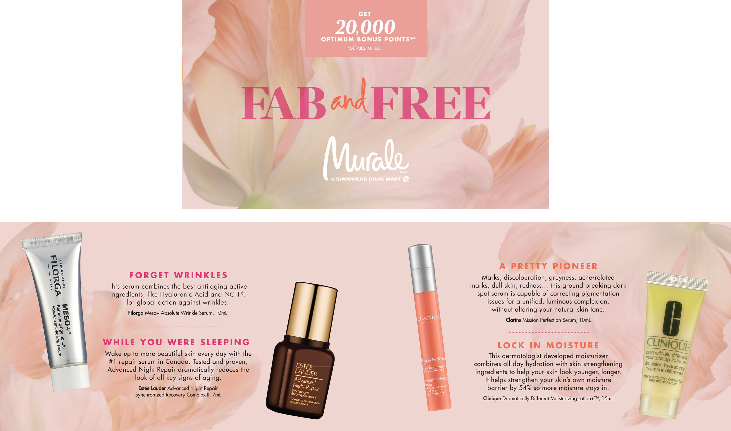 Murale Spring 2017  Fab and Free Gift with Purchase Promotion Product Booklet Cover & Sample Spread 7 x 4