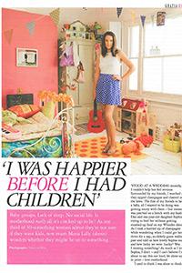 Grazia   'I was happier before I had children'